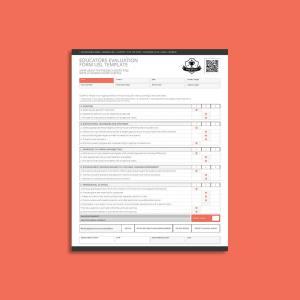 Educators Evaluation Form USL Template
