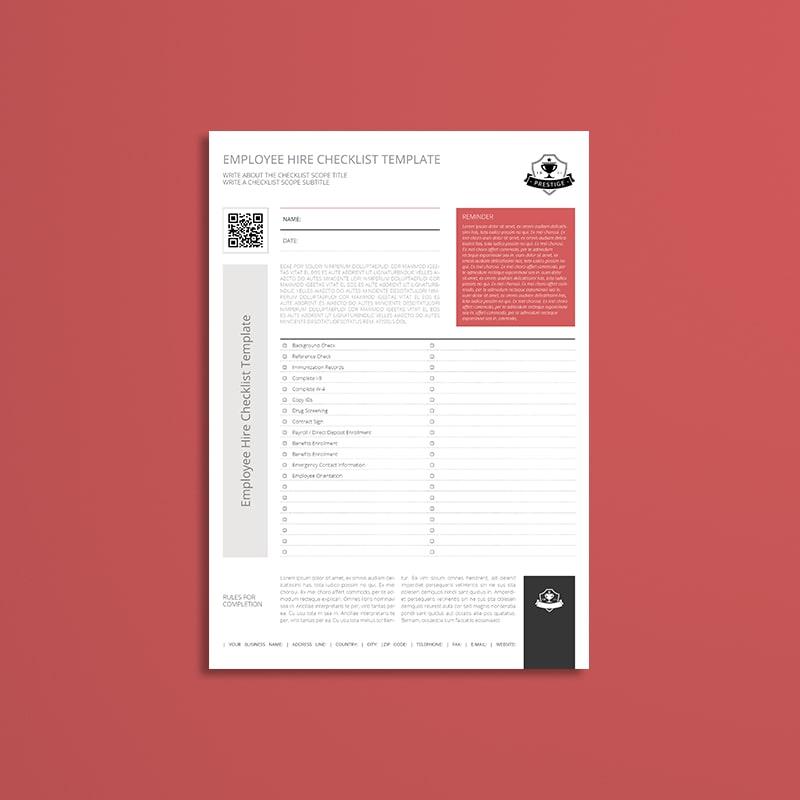 Employee Hire Checklist Template