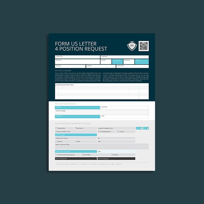 Form US Letter 4 Position Request