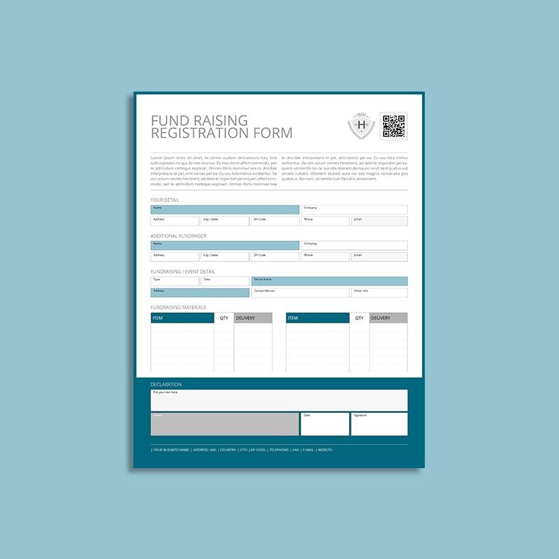 Fund Raising Registration US Letter Form