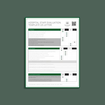 Hospital Staff Evaluation Template US Letter