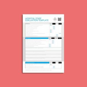 Hospital Staff Evaluation Template