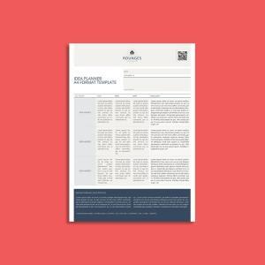 Idea Planner A4 Format Template