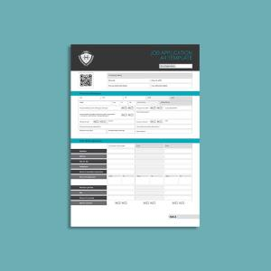 Job Application A4 Template
