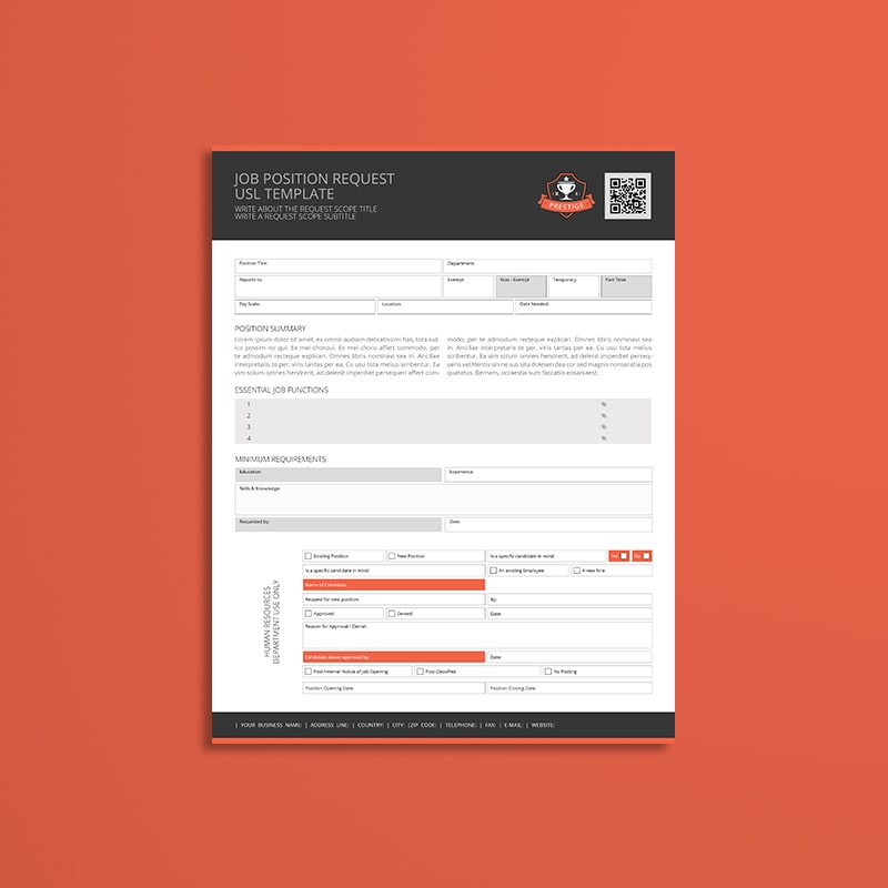 Job Position Request USL Template