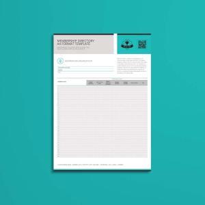 Membership Directory A4 Format Template