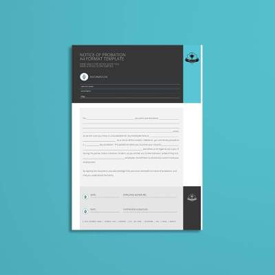 Notice of Probation A4 Format Template