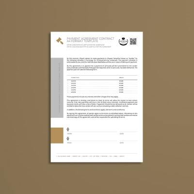 Payment Agreement Contract A4 Format Template