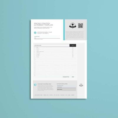 Pricing Strategy A4 Format Template