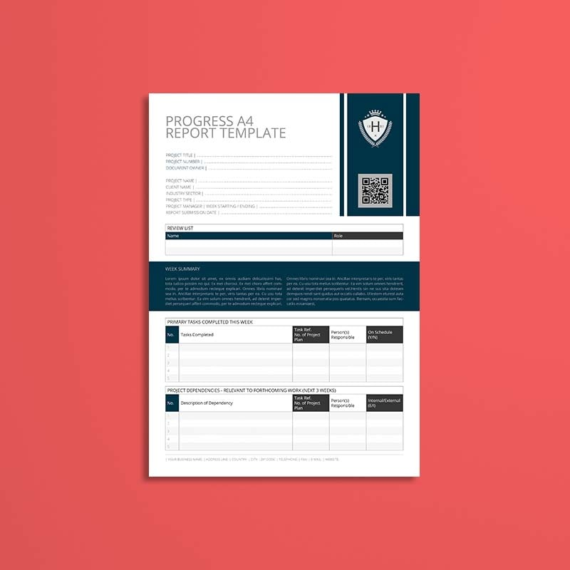 Progress A4 Report Template