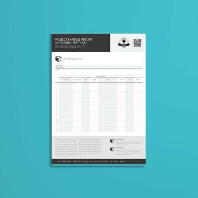 Project Expense Report A4 Format Template