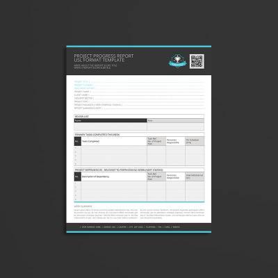 Project Progress Report USL Format Template