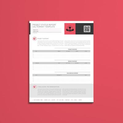 Project Status Report USL Format Template