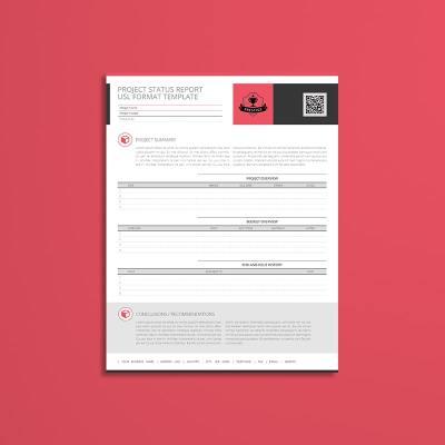 Project Status Report USL Format Template