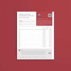Project Task List USL Format Template