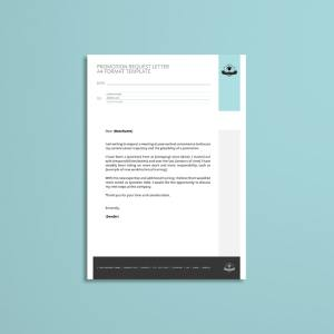 Promotion Request Letter A4 Format Template