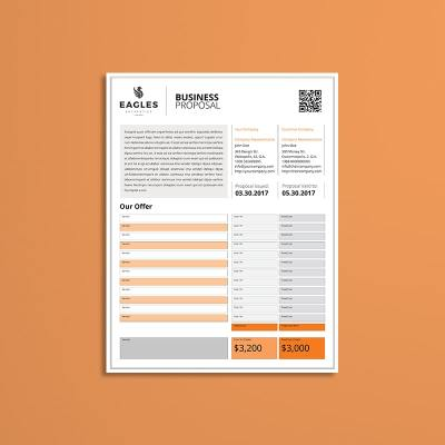 Proposal Single Page US Letter Template
