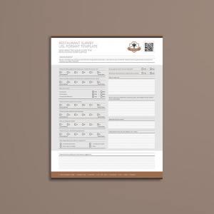 Restaurant Survey USL Format Template