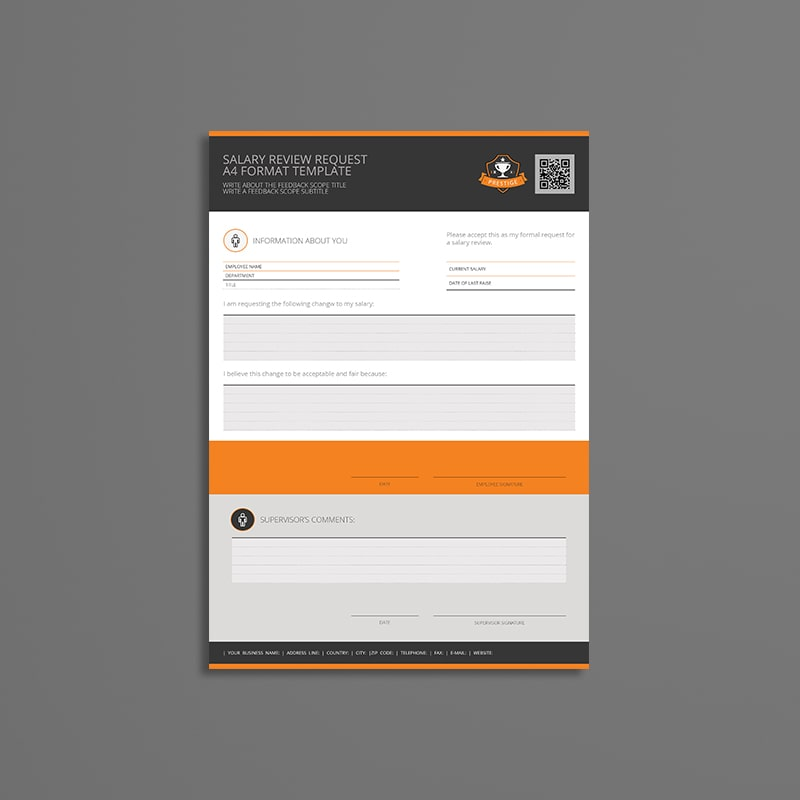 Salary Review Request A4 Format Template