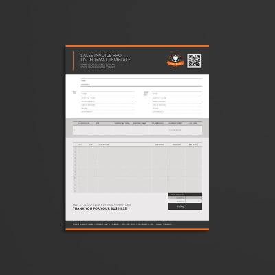 Sales Invoice Pro USL Format Template