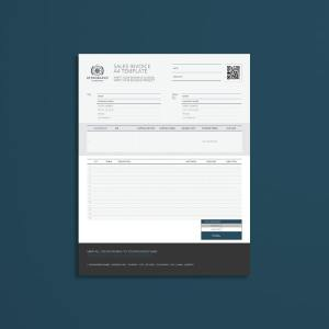 Sales Invoice US Letter Format Template