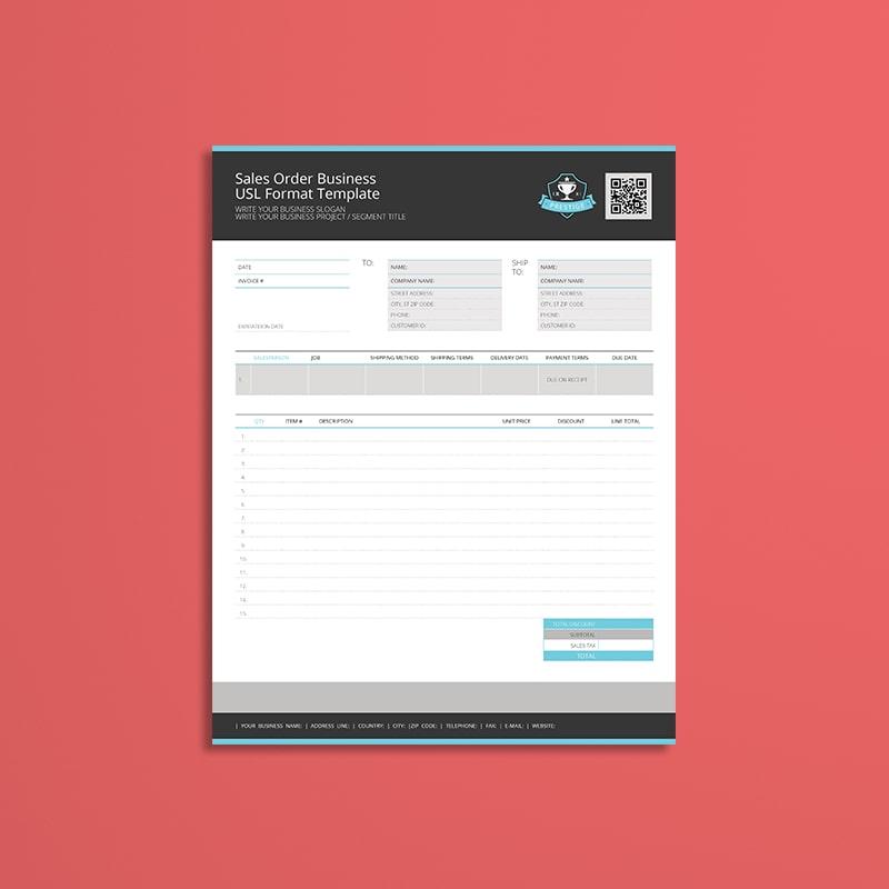 Sales Order Business USL Format Template