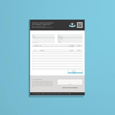 Service Quote Business A4 Format Template