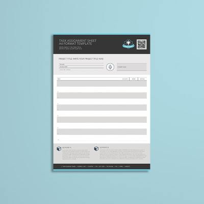 Task Assignment Sheet A4 Format Template