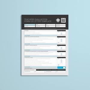 Teachers Evaluation Form US Letter Template