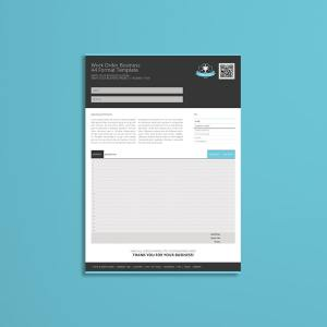 Work Order Business A4 Format Template