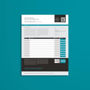 Work Order US Letter Format Template