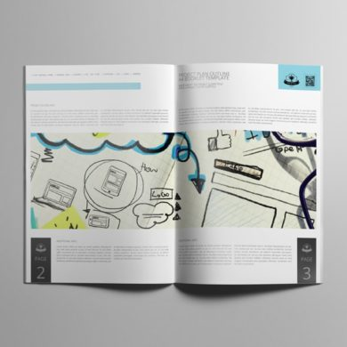 Project Plan Outline A4 Booklet Template – kfea 3-min