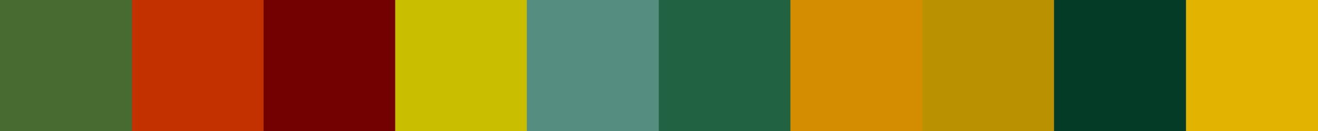 14 Krebola Color Palette