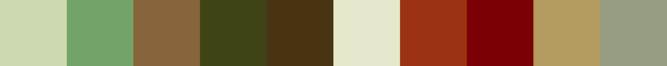 607 Peridria Color Palette