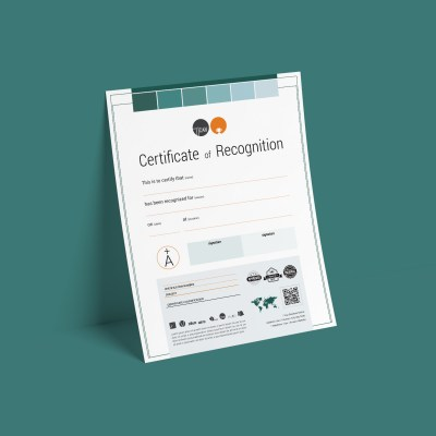 TiCAN Recognition Certificate Template