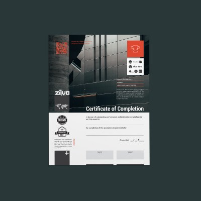 ZiLVO Certificate of Completion Template
