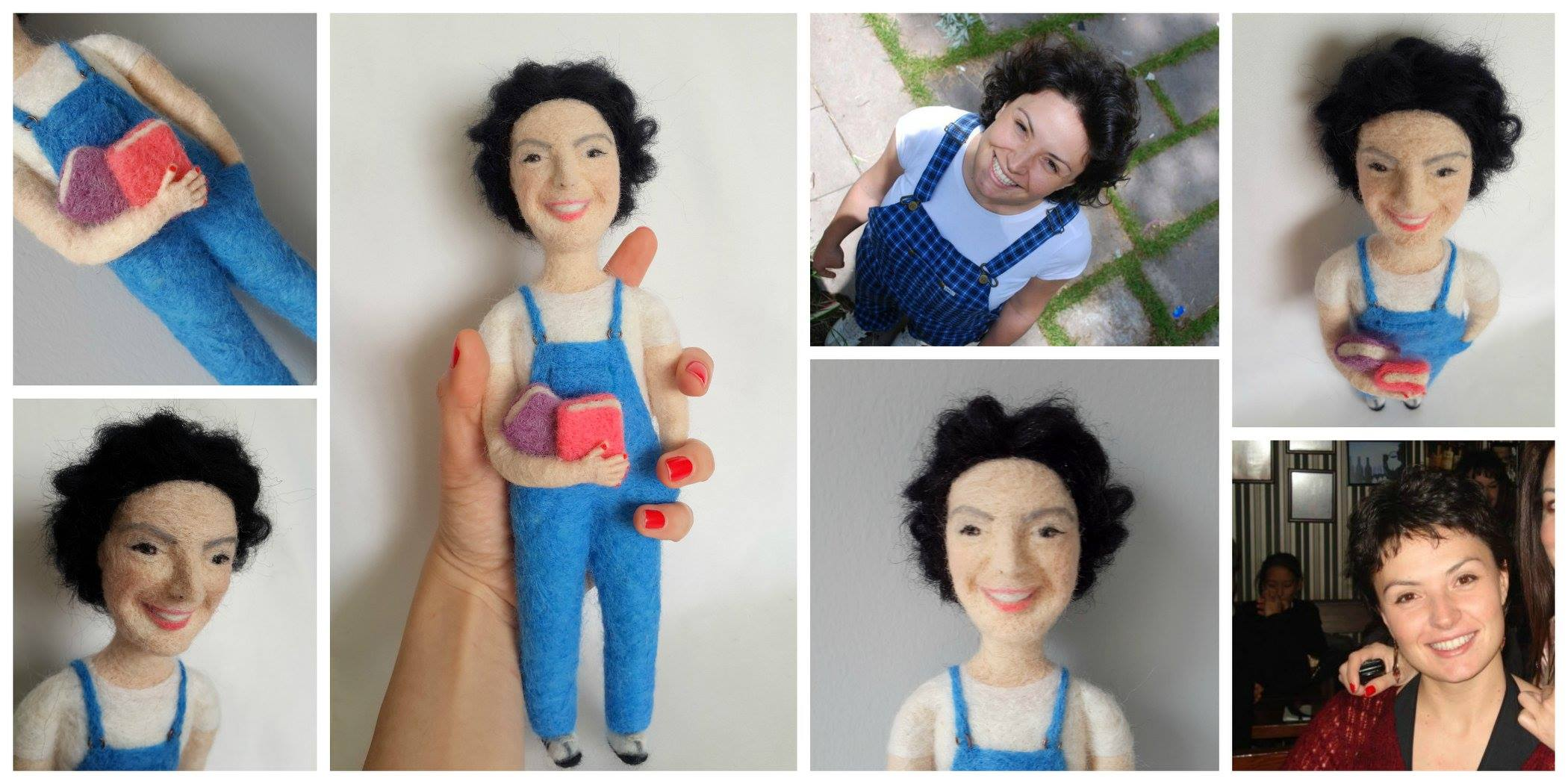 keçe iğneleme bebek/needle felted doll