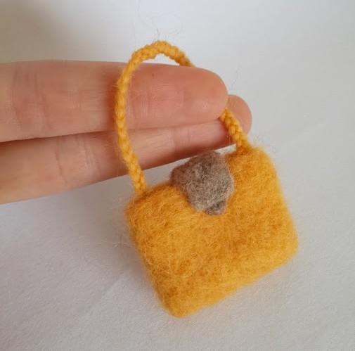 minyatür çanta keçe