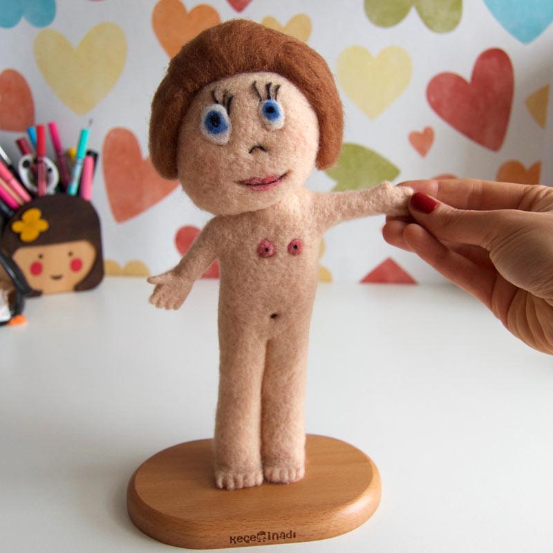 çocuk çizimi gerçek olsun yün figür çocukların çizimi childs art needle felting