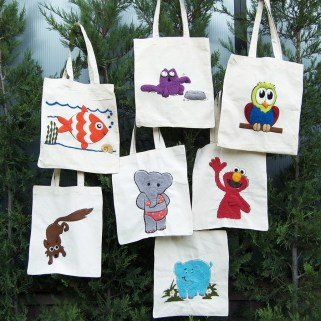 pufidik bez çantalar - keçe inadı - keçe iğneleme çanta yapımı hobi kiti