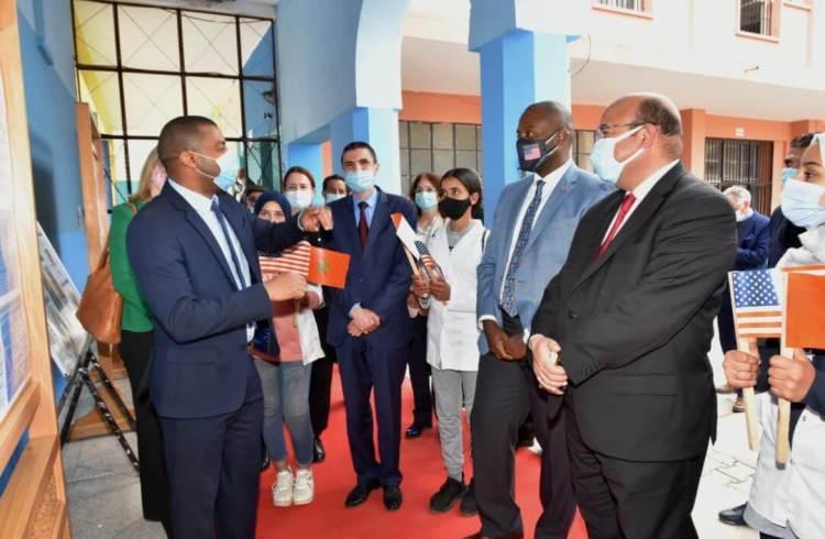 زيارة تاريخية للقنصل العام للولايات المتحدة الأمريكية لأكاديمية التعليم بمراكش
