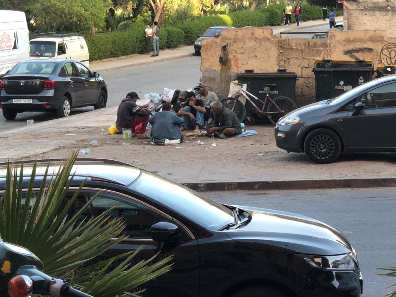 مشاهد صادمة وسلوكات خطيرة تحول شارعا لنقطة سوداء بمراكش + صور