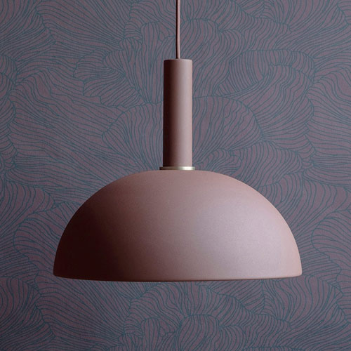 Ferm Living Socket Pendant Low Red Brown