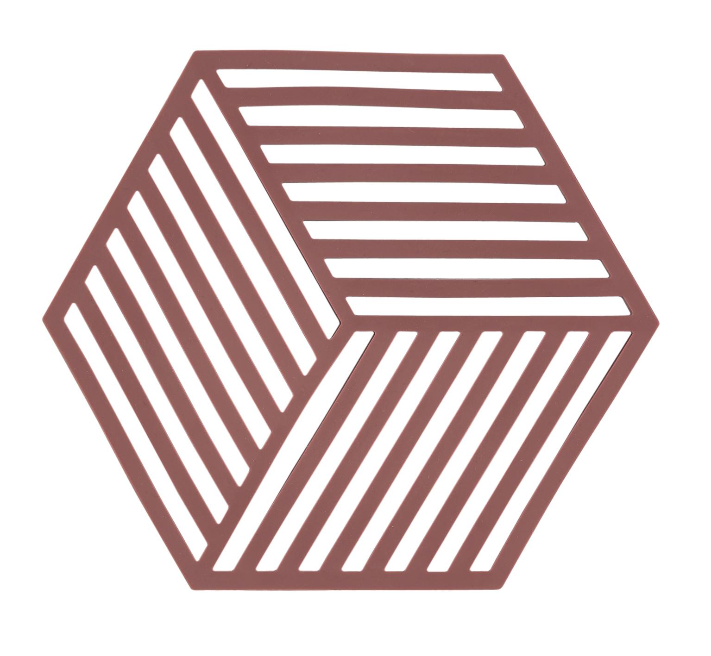 Trivet siena red hexagon