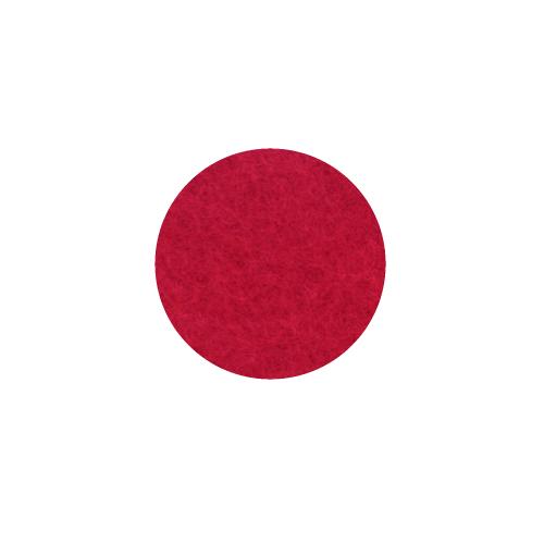 Onderzetter 9cm poppy red 55