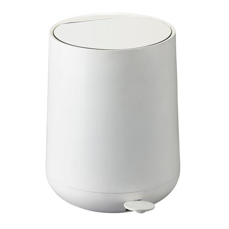 Pedal bin white nova one 5 L