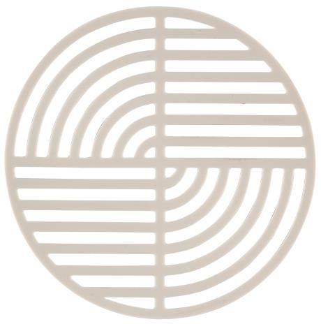 Trivet warm grey circle