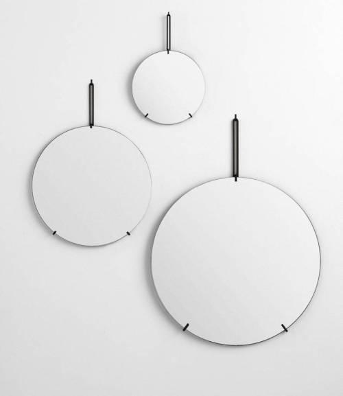 Moebe wall mirror black 30cm