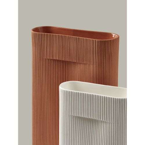 Muuto Ridge Vase 35cm off white