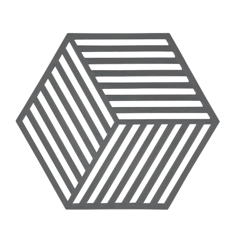 Trivet cool grey hexagon